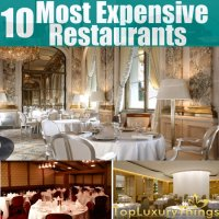 10 Most Expensive Restaurant