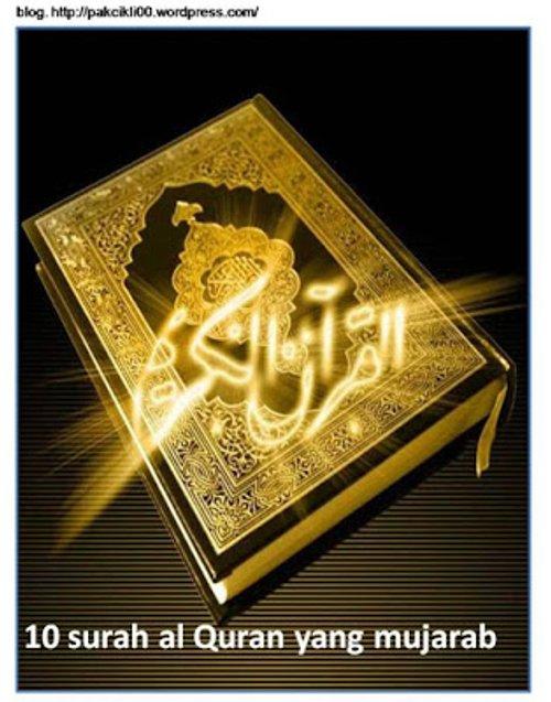 10 Surah Al Quran Yang Mujarab Untuk Kita Amalkan Dalam Kehidupan