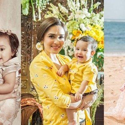 12 Inspirasi Baju Kondangan Ala Selebritas Yang Kompak Buat Mama Dan Si Kecil Lucu Dan Bikin Gemas