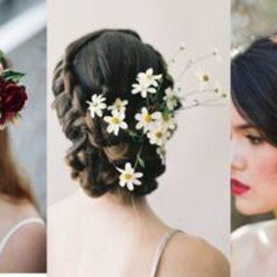 13 Inspirasi Bridal Hair Do Dengan Aksesori Bunga Yang Memesona Tanpa Mahkota Tetap Terpancar Auranya