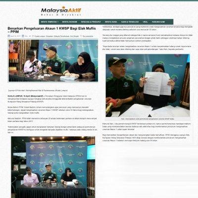 3624 Benarkan Pengeluaran Akaun 1 Kwsp Bagi Elak Muflis Malaysia Aktif 18 04 2017