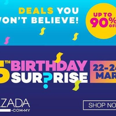 5th Birthday Surprise Box Dari Lazada Sangat Mengejutkan