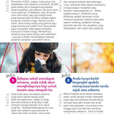 6 Mitos Imuniti Terbongkar