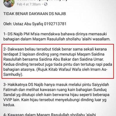 Abu Syafiq Fitnah Pm Najib Razak Tidak Masuk Makan Nabi