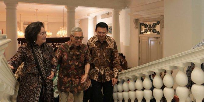 Ahok Terima Kunjungan Try Sutrisno Dan Meutia Hatta Di Balai Kota