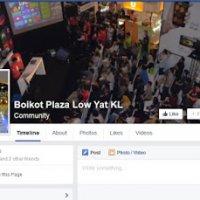 Akaun Facebook Kempen Boikot Plaza Low Yat