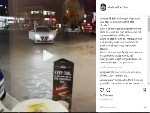 Ambil Gambar Je Tapi Kenapa Tak Tolong Chef Wan Sakit Hati Tengok Video Lelaki Ditikam Dan Digilis Di Stesen Minyak