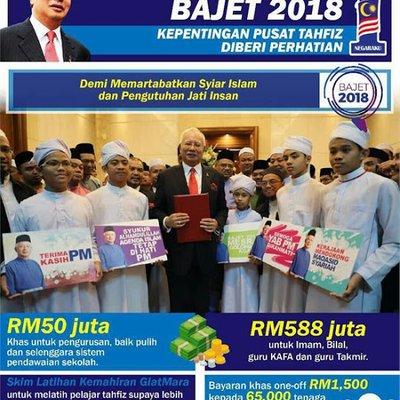 Bajet Untuk Pusat Tahfiz Martabatkan Islam