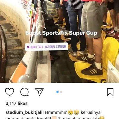 Bangang Kerusi Stadium Nasional Dipijak