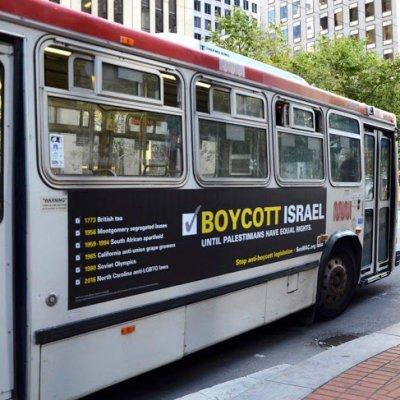 Bas Di San Francisco Mengiklankan Kempen Boikot Israel