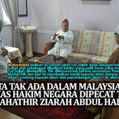 Berita Tak Ada Dalam Malaysiakini Bekas Hakim Negara Dipecat Tun Mahathir Ziarah Abdul Hadi
