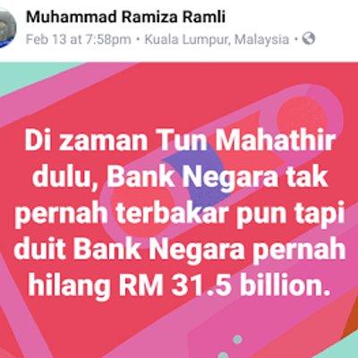 Bnm Tak Terbakar Pun Hilang Rm31 5 Billion