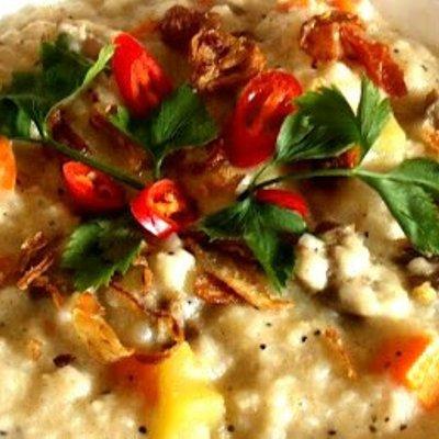 Cara Buat Bubur Nasi Berlauk Pedas Yang Mudah
