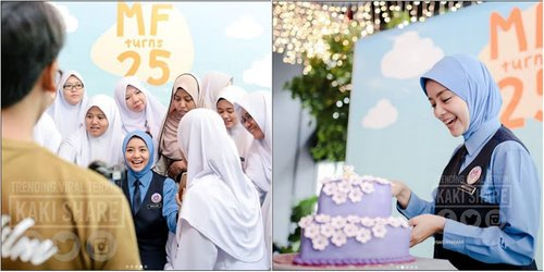 Comel Seperti Budak 10 Gambar Mira Filzah Berbaju Sekolah Di Majlis Hari Lahirnya