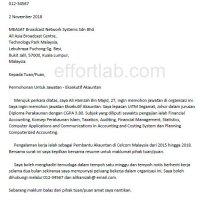 Contoh Format Menulis Surat Berhenti Kerja Terbaik