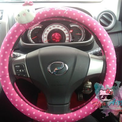 Cover Steering Hello Kitty