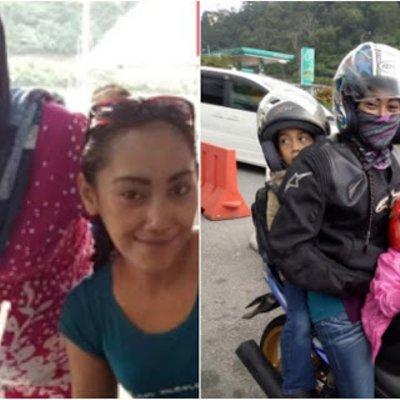 Dahsyaat Anak Bonceng Motorsikal Ibu Pulang Beraya Menjadi Viral
