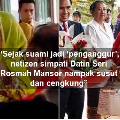 Datin Sri Rosmah Nampak Sangat Susut Sejak Najib Jadi Penganggur Susut Tang Mana Netizen