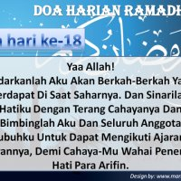 Doa Harian Bulan Ramadhan Doa Hari Ke 18