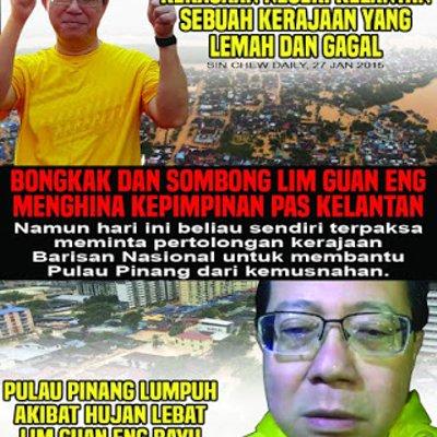 Ego Guan Eng Dap Punca Banjir Di Pulau Pinang Pray4penang