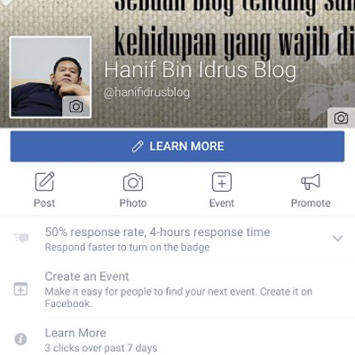 Facebook Pages Hanif Idrus Blog Kini 200 Likes
