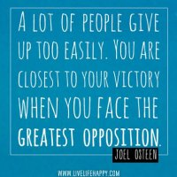 Facing The Greatest Opposition