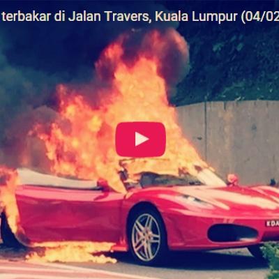 Ferrari Terbakar Kes Tak Tutup Enjin Masa Isi Petrol on