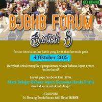 Forum Tutorial Online Bahasa Jepun Batch8 Bermula 4 Oktober Ini