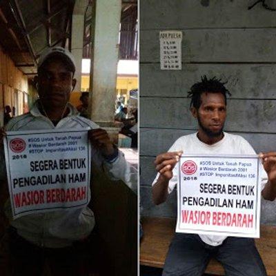Foto Dari Fakfak Solidaritas Untuk Wasior Berdarah Segera Bentuk Pengadilan Ham