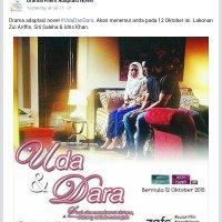 Gandingan Zul Ariffin Dan Siti Saleha Dalam Drama Uda Dan Dara Bersiaran 12 Oktober Ini