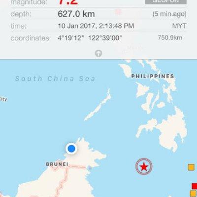 Gempa Bumi 7 3 Di Sabah 10 1 2017