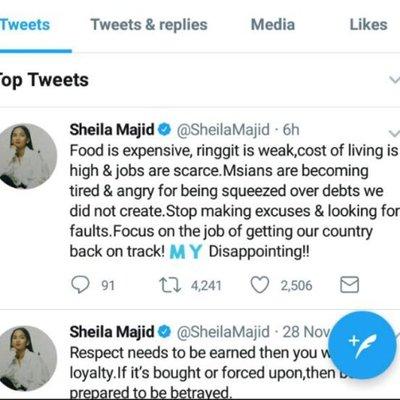 Giliran Sheila Majid Pula Luah Perasaan Di Twitter
