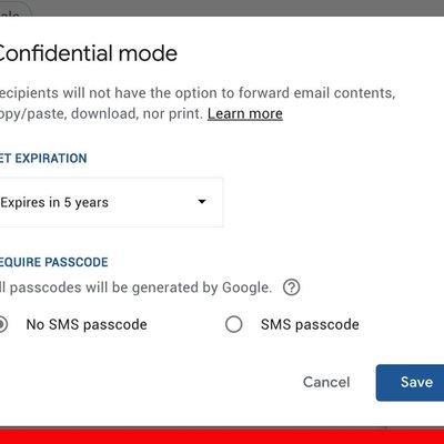 Gmail Menguji Fungsi Confidential Mode Yang Memadam Emel Selepas Tempoh Tertentu