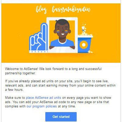 Google Adsense Terima Permohonan Untuk Kali Pertama