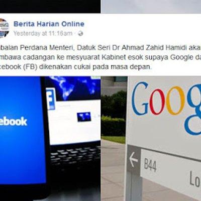 Google Dan Facebook Bakal Dikenakan Cukai