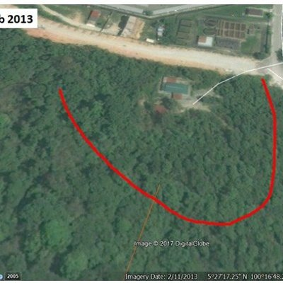 Google Earth Images Show How Tanjung Bungah Landslide Site Was Cleared