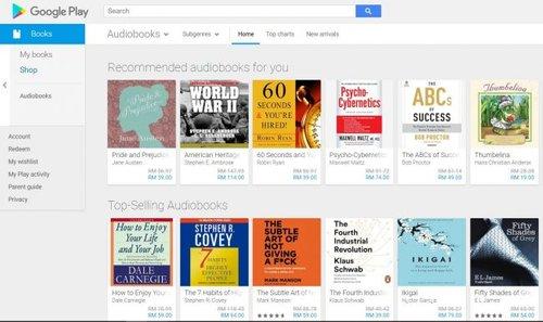 Google Memperkenalkan Penawaran Buku Audio Pada Google Play