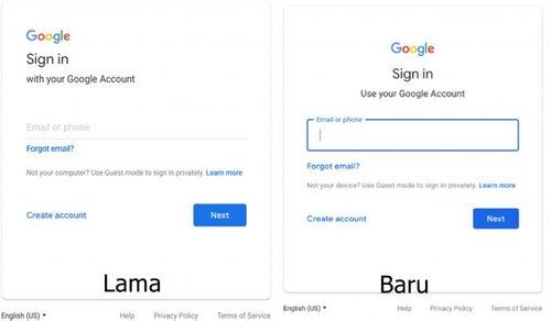 Google Memperkenalkan Rekaan Panel Log Masuk Baru