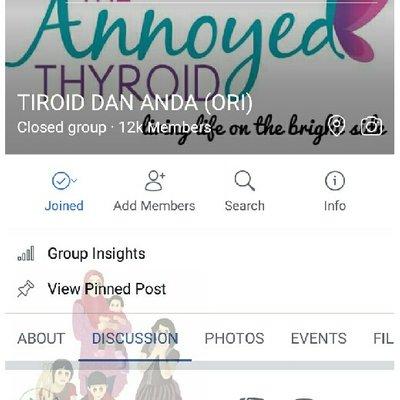 Group Support Thyroid Group Facebook Tiroid Dan Anda
