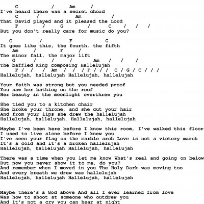 hallelujah lyrics jeff buckley