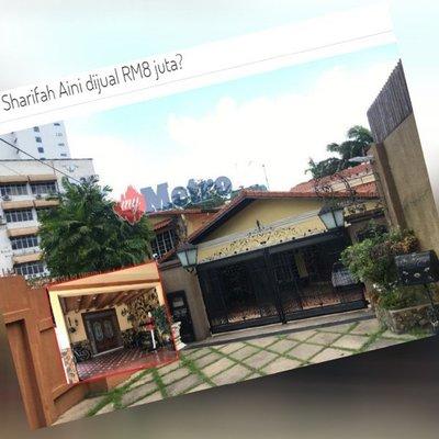 Harga Masih Boleh Runding Banglo Sharifah Aini Dijual Rm8 Juta