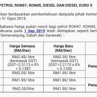 Harga Petrol Diesel Turun Bermula Tengah Malam Ini