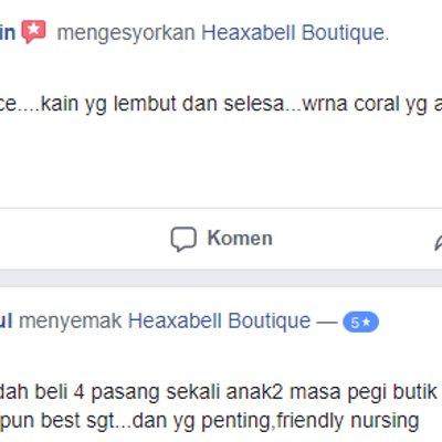 Heaxabell Koleksi Pakaian Muslimah Murah Berkualiti Dengan Ciri Mesra Wudhu Dan Nursing Friendly