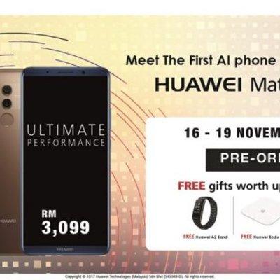 Huawei Mate 10 Pro Berharga Rm3099 Boleh Dipra Tempah Bermula 16 November