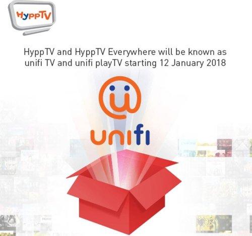 Hypptv Akan Dijenamakan Semula Sebagai Unifi Tv Bermula 12 Januari 2018