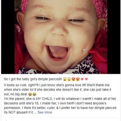 Ibu Bayi 6 Bulan Diugut Kerana Menindik Pipi Bayinya Dengan Subang