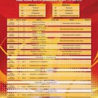 Jadual Perlawanan Aff Suzuki Cup 2012