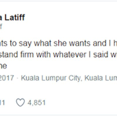 Jawapan Balas Fathia Latiff Atas Kritikan Dira Semua Orang Punya Hak Untuk Bersuara
