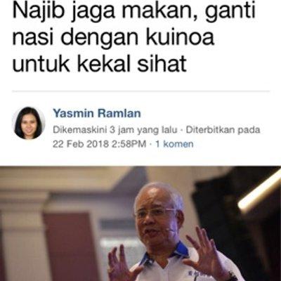 Jika Setiap Butir Beras Adalah Hasil Perjuangan Umno Kenapa Najib Makan Kuinoa