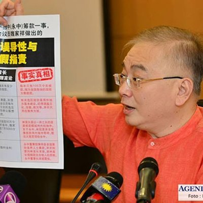 Ka Siong Terkejut Guan Eng Kata Kontrak Crcc Tidak Penting